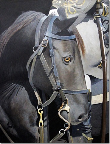 Gaylon Dingler  The Colonel's Horse  32X24  Acrylic