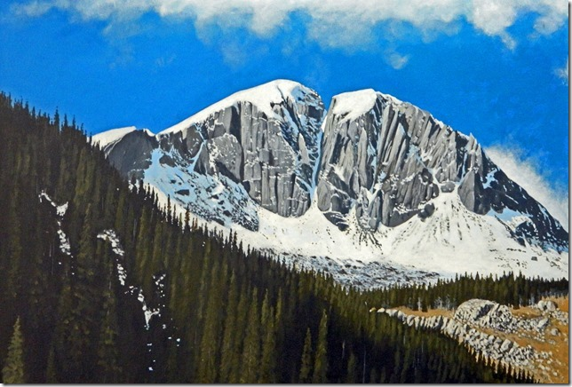 Gaylon Dingler  Broken Mountain  30X40  Acrylic