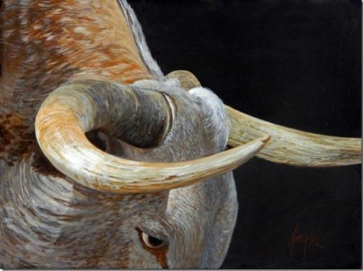 Gaylon Dingler  Bull's Eye  18X24  Acrylic