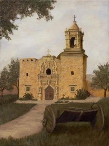 Debra Latham  San Jose Mission  24X18  Oil on Canvas