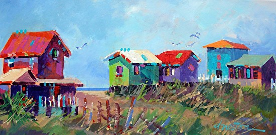 Dyan Newton  Springbreak 2013  12X24  Acrylic  SOLD