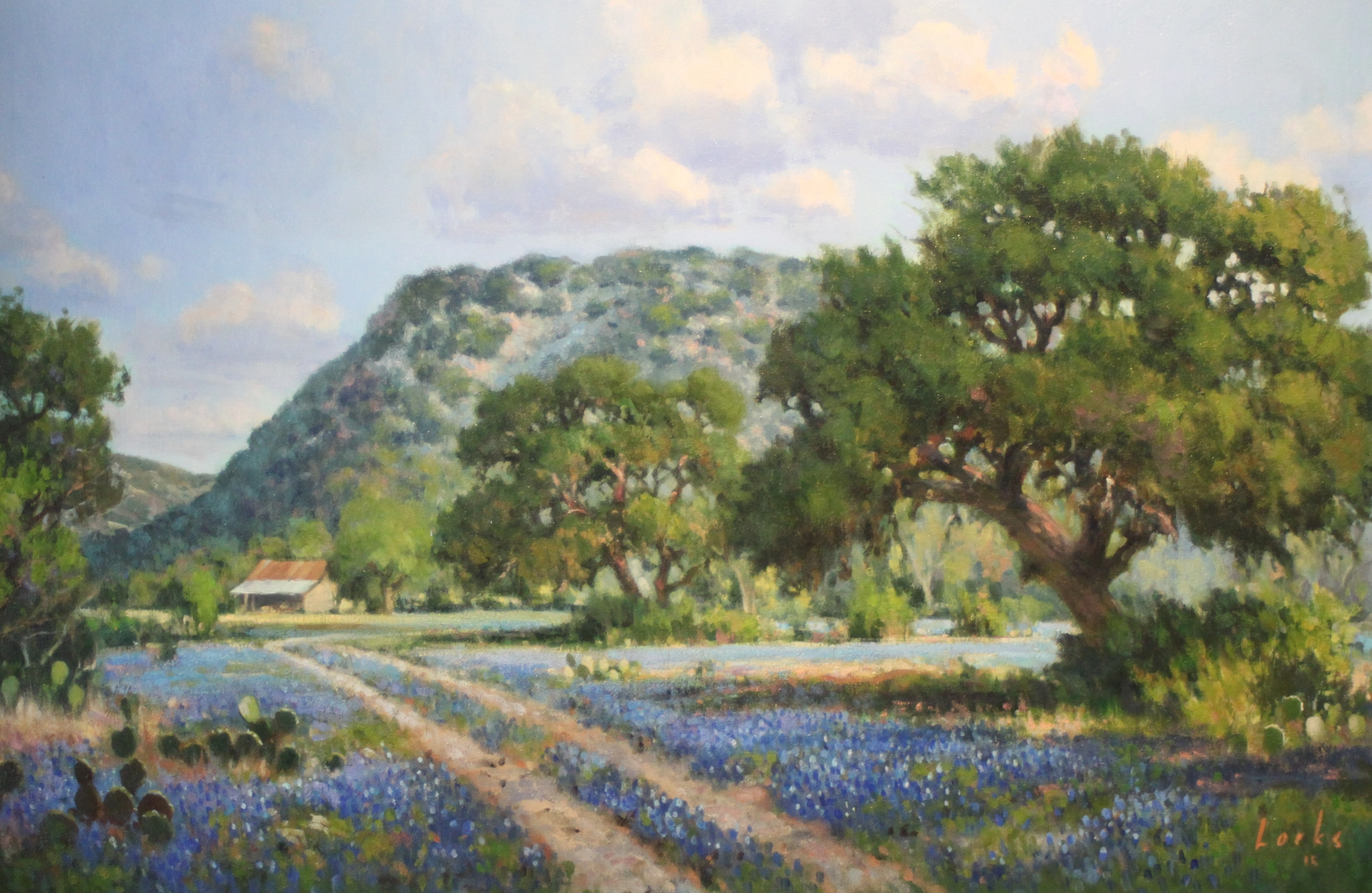 David Forks A Road to the Barn 24X36 Oil on Canvas $2,592.jpg