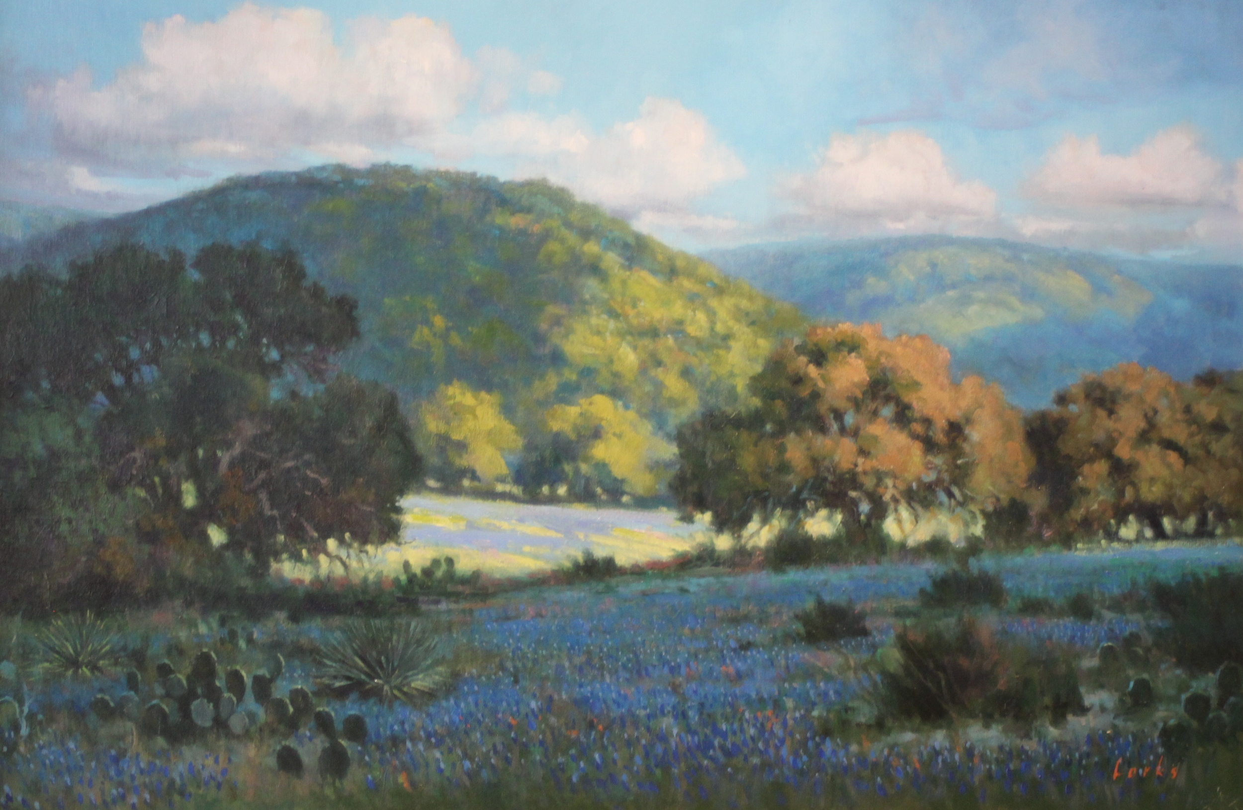 David Forks  Oaks in the Valley  24X36  Oil on Canvas  SOLD