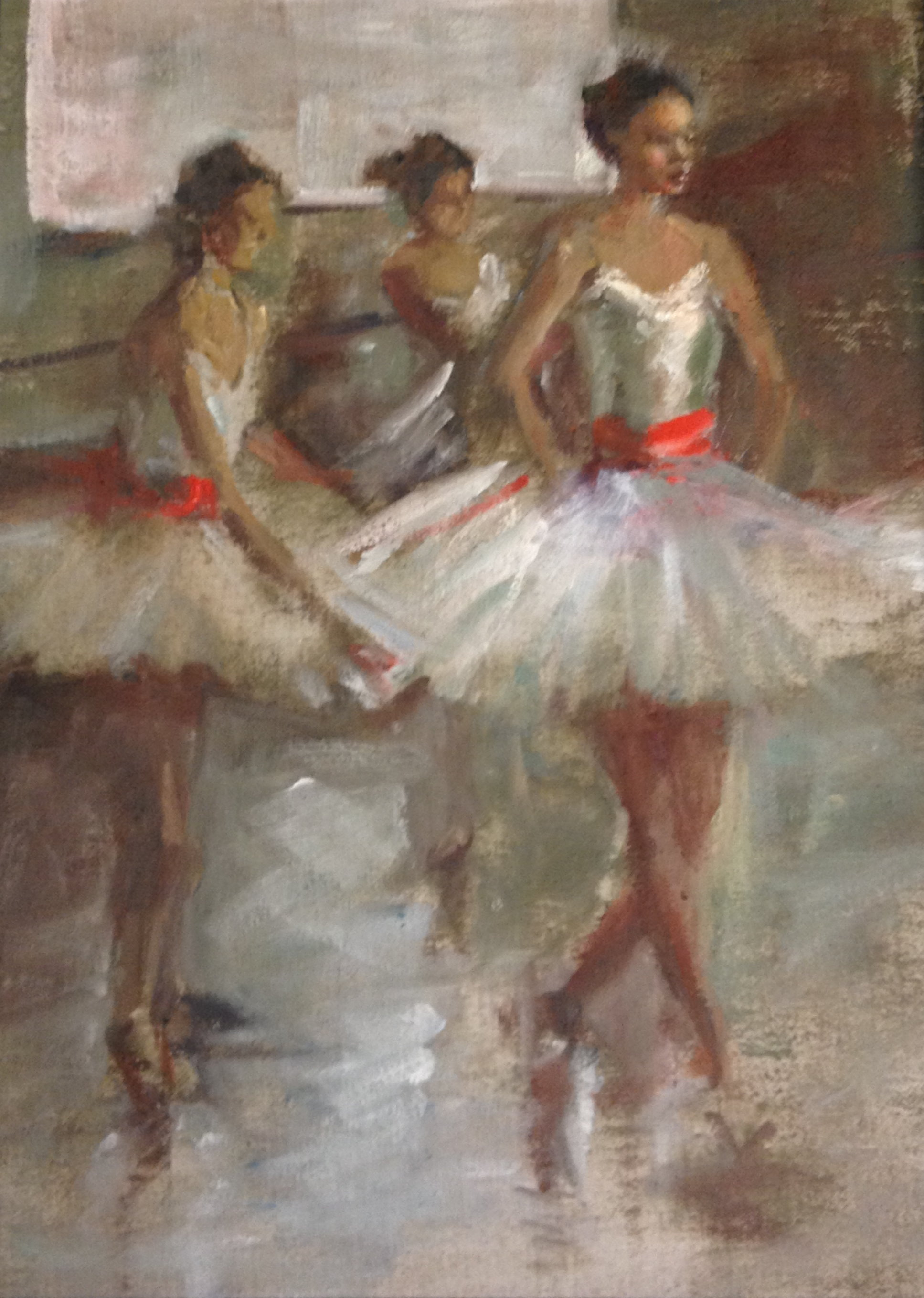 Hilda Rueda  After Degas  16X12  Oil