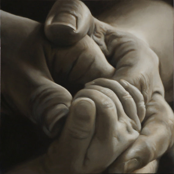 Nancy Hines  First Born  36X36  Oil on Canvas