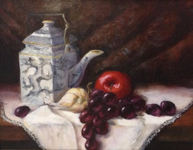 Debra Latham  Asian Teapot  11X14  Oil on Canvas