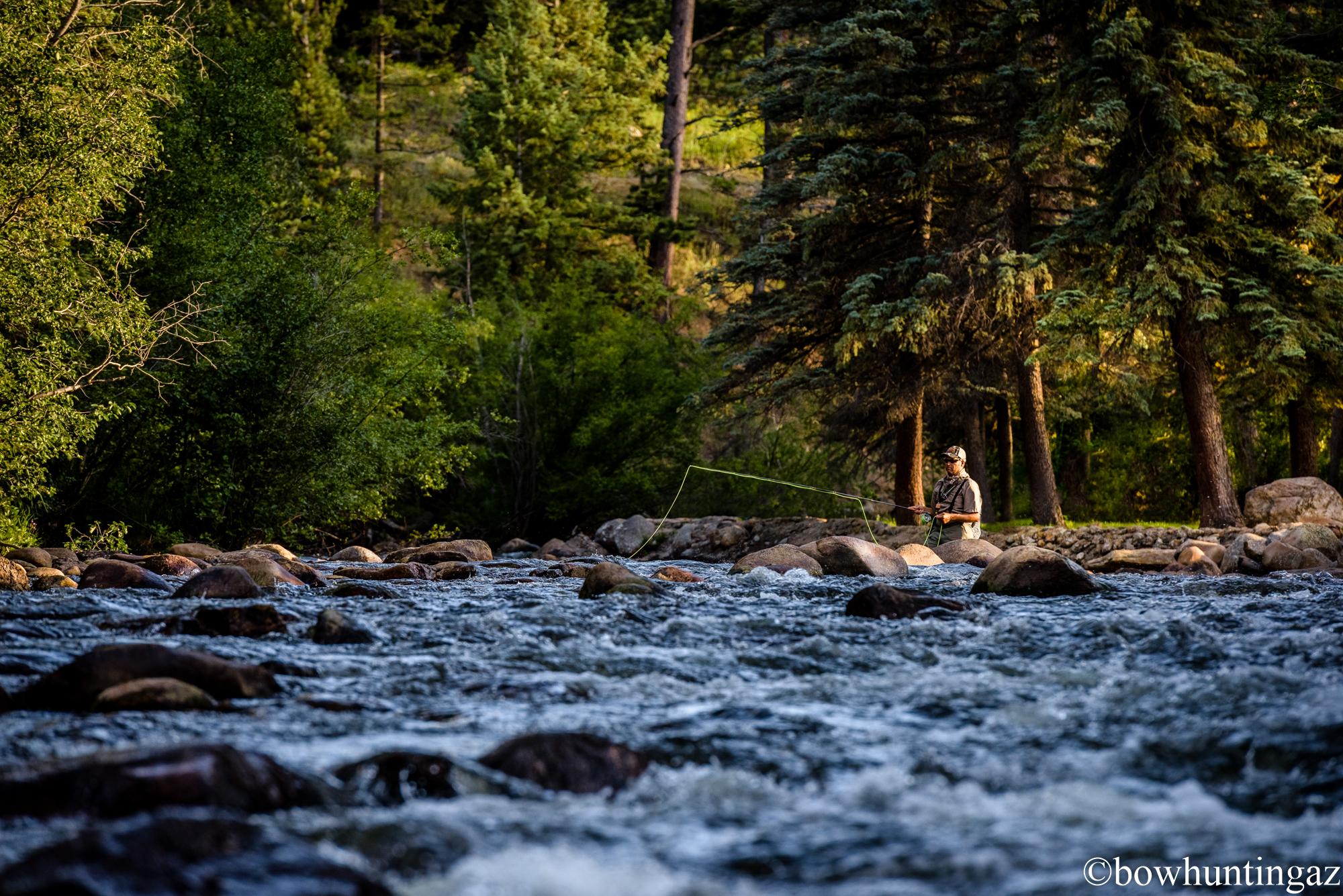 Fly fishing colorado river