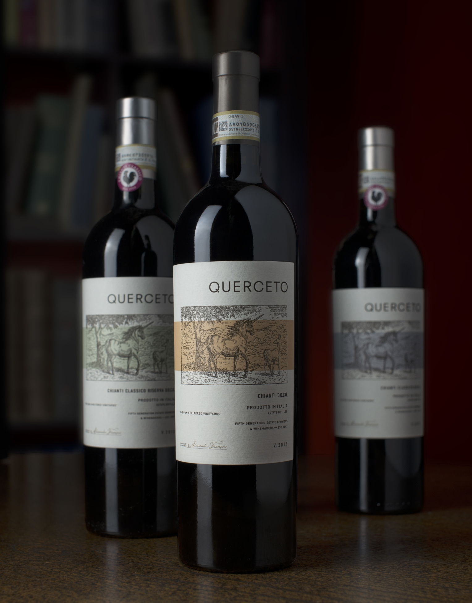 Auston Design Group - Querceto Chianti 3 Bottle Still Life