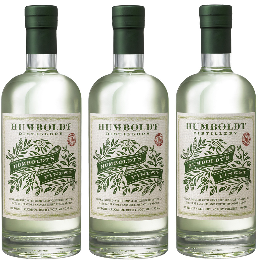 Auston Design Group - Humboldt Distillery - Hemp Vodka 3 bottles
