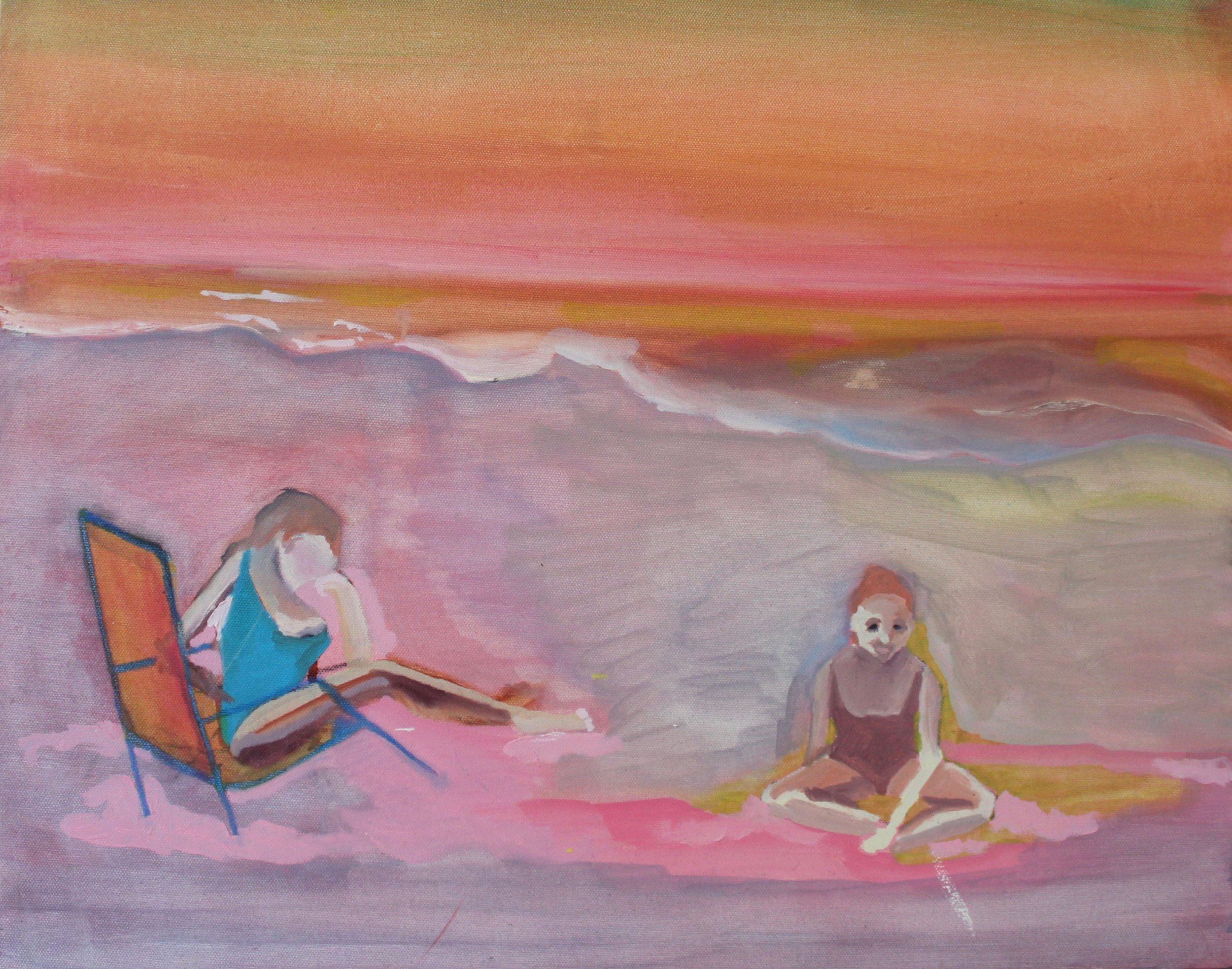 "Still waiting  2017  Oil on Canvas  16 x 20"""