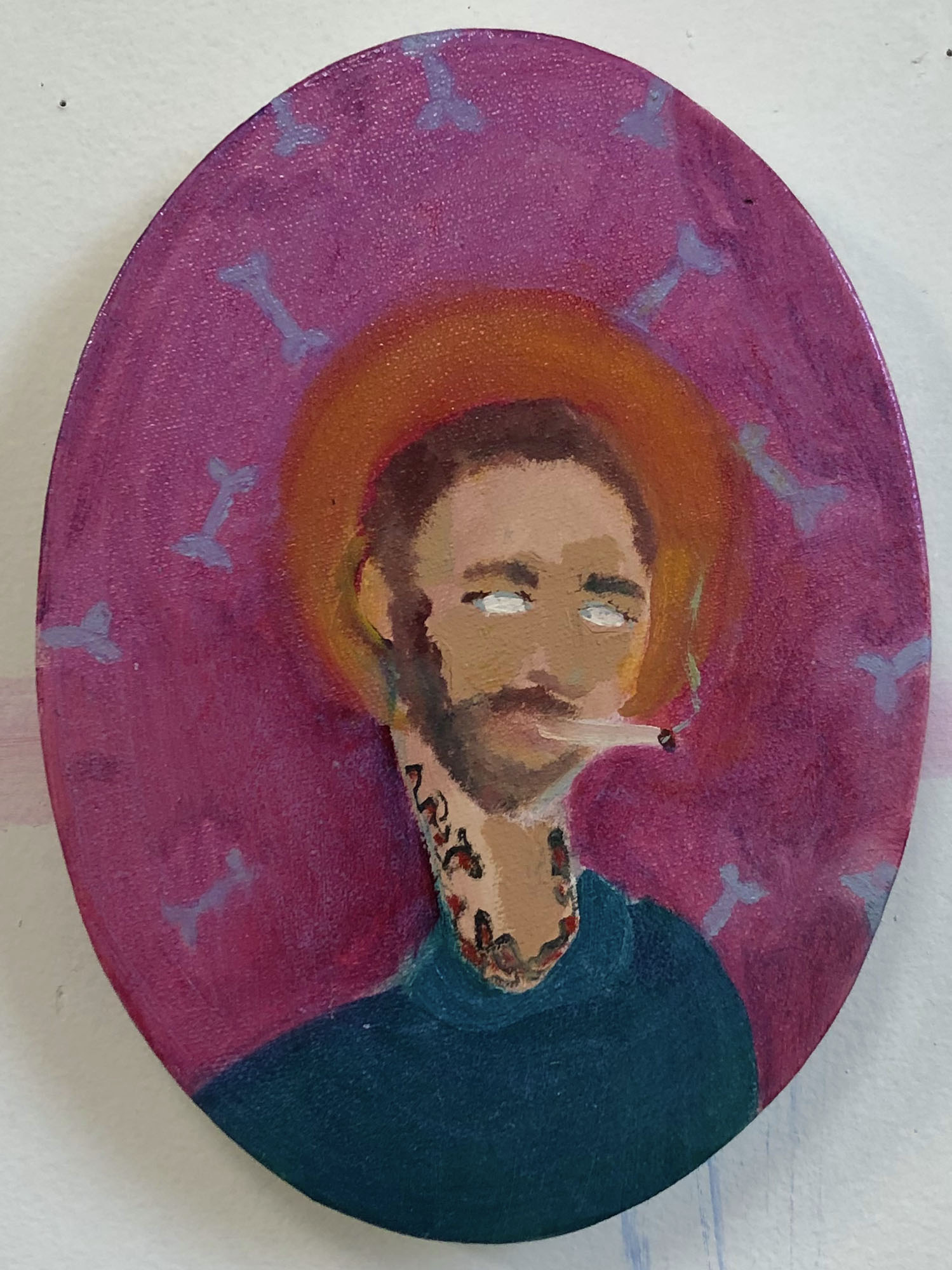 "Ultimate Boner  2018  Oil on Canvas  6 x 8"""