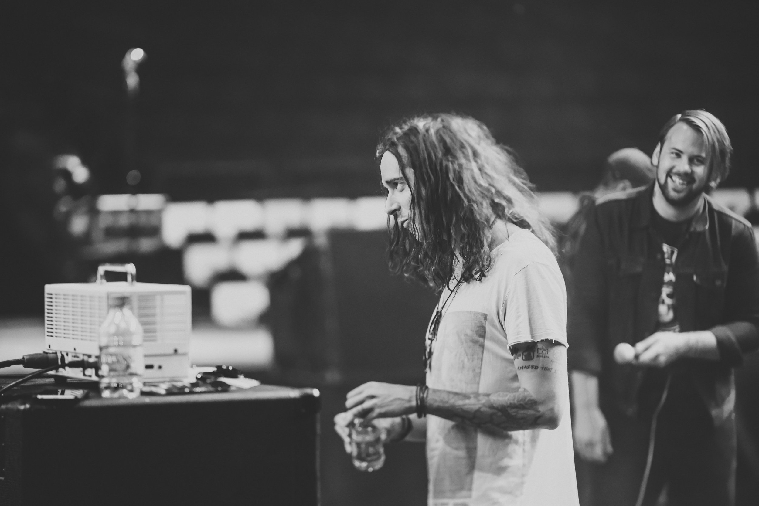 Spencer of Underoath at rehersals with Beartooth at the APMAS // Columbus, OH
