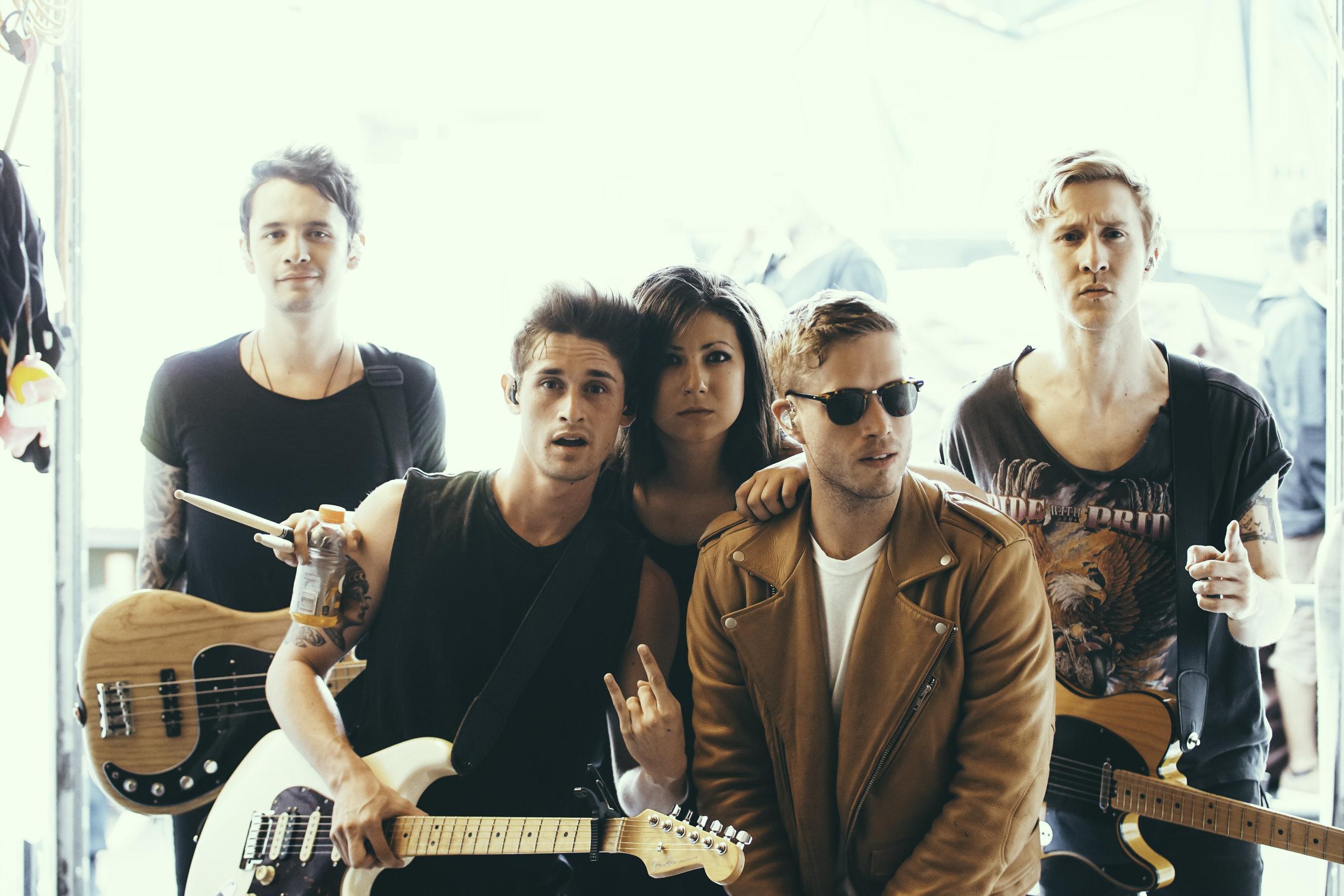Favorite full-band shot from the summer. The Summer Set in Denver, CO