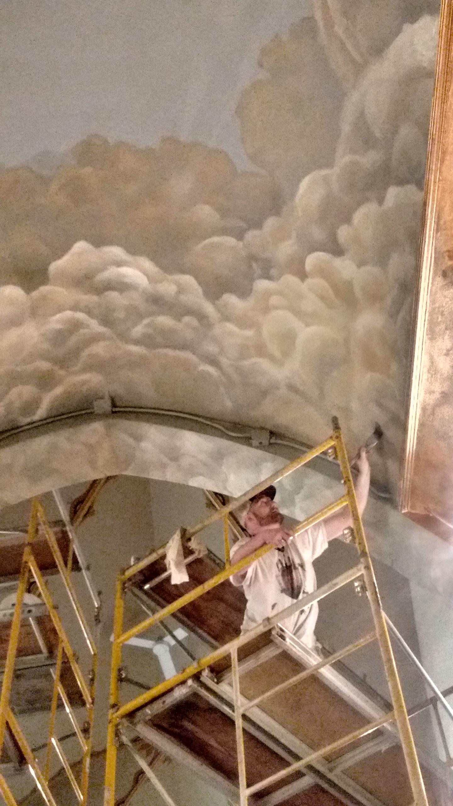 Ceiling Mural in Catholic Church - Appleton, WI