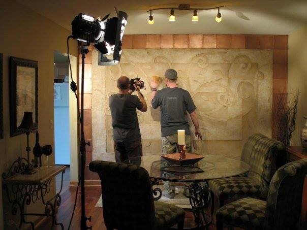 HGTV Episode: Plaster effects with copper paint in Roscoe Illinois home.