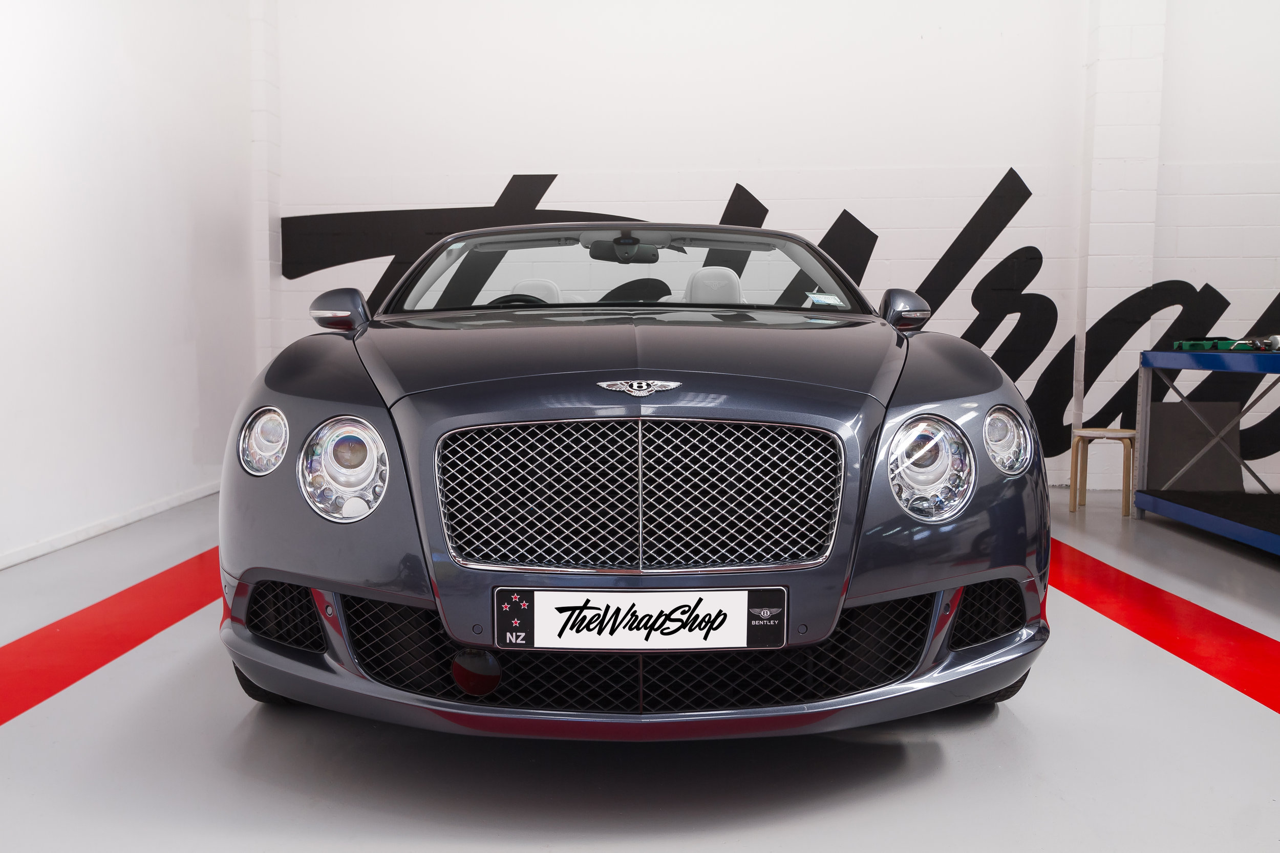 Wrapped Bentley