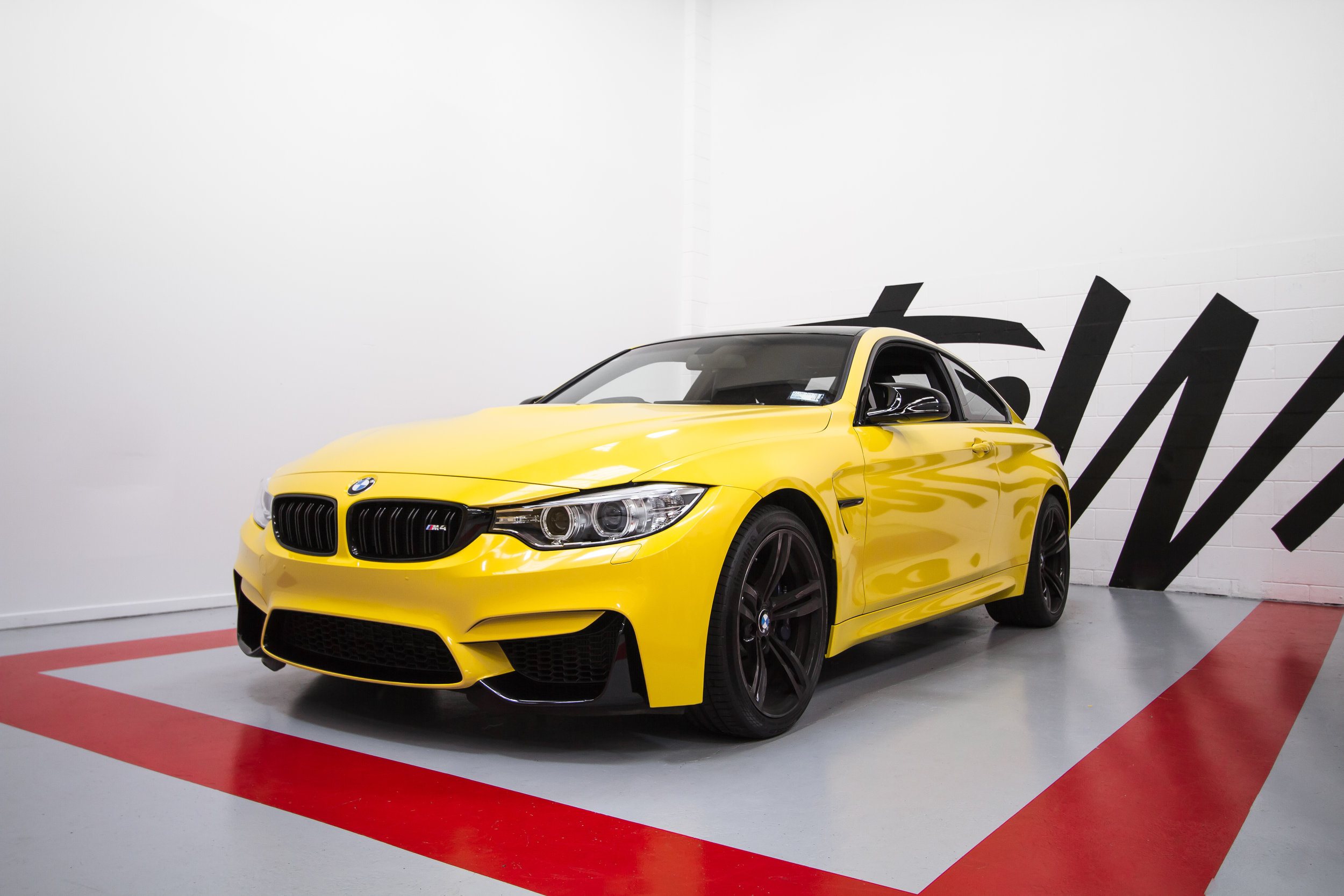 BMW M4 wrapped