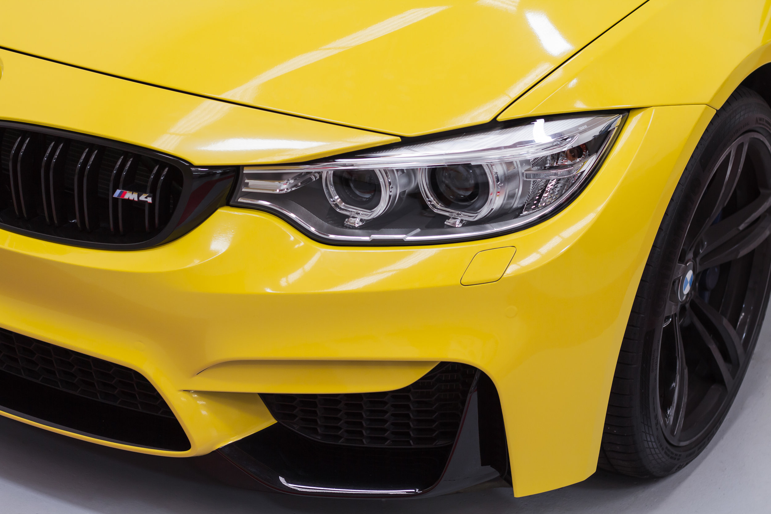 BMW M4 headlights