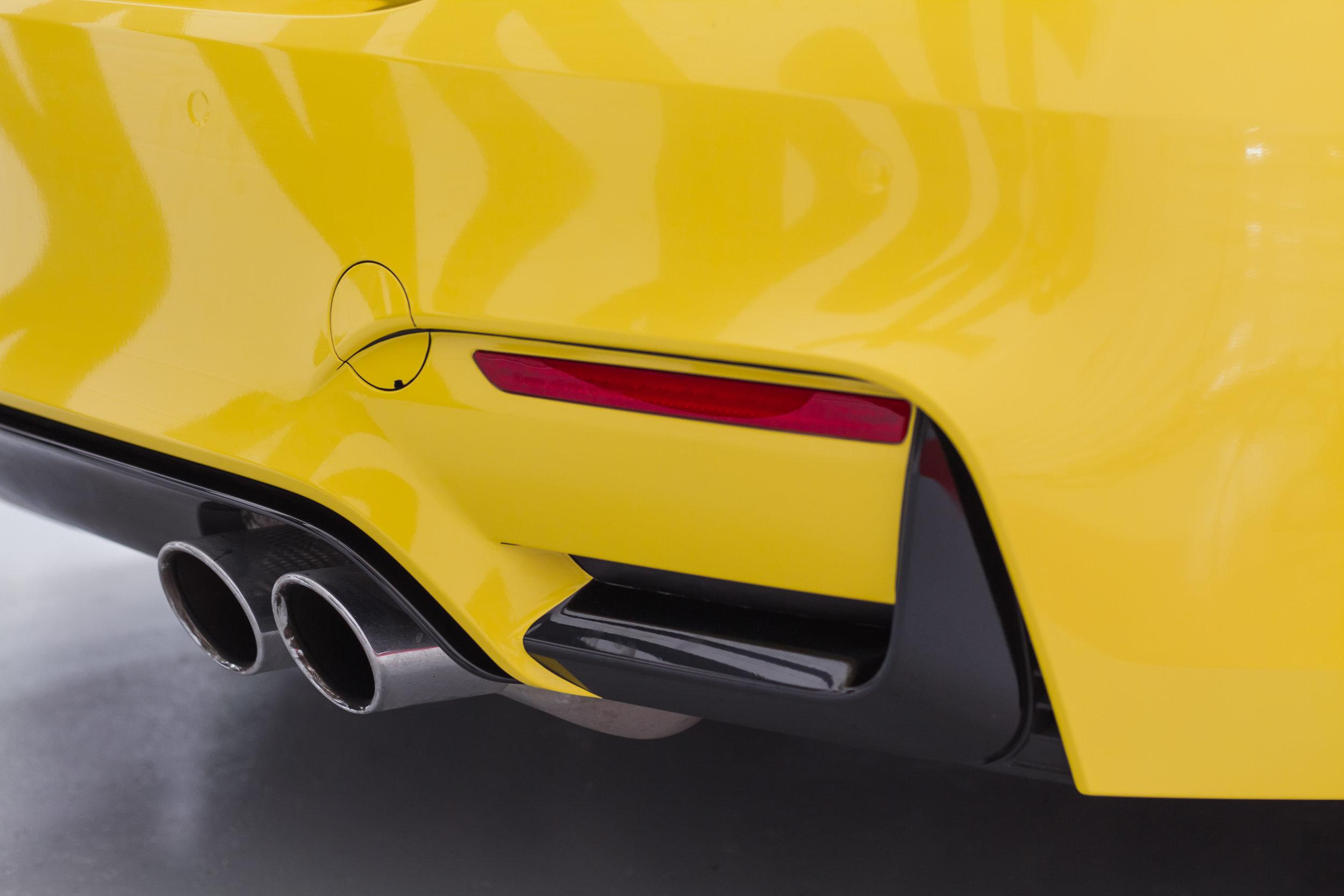BMW M4 back bumper grill