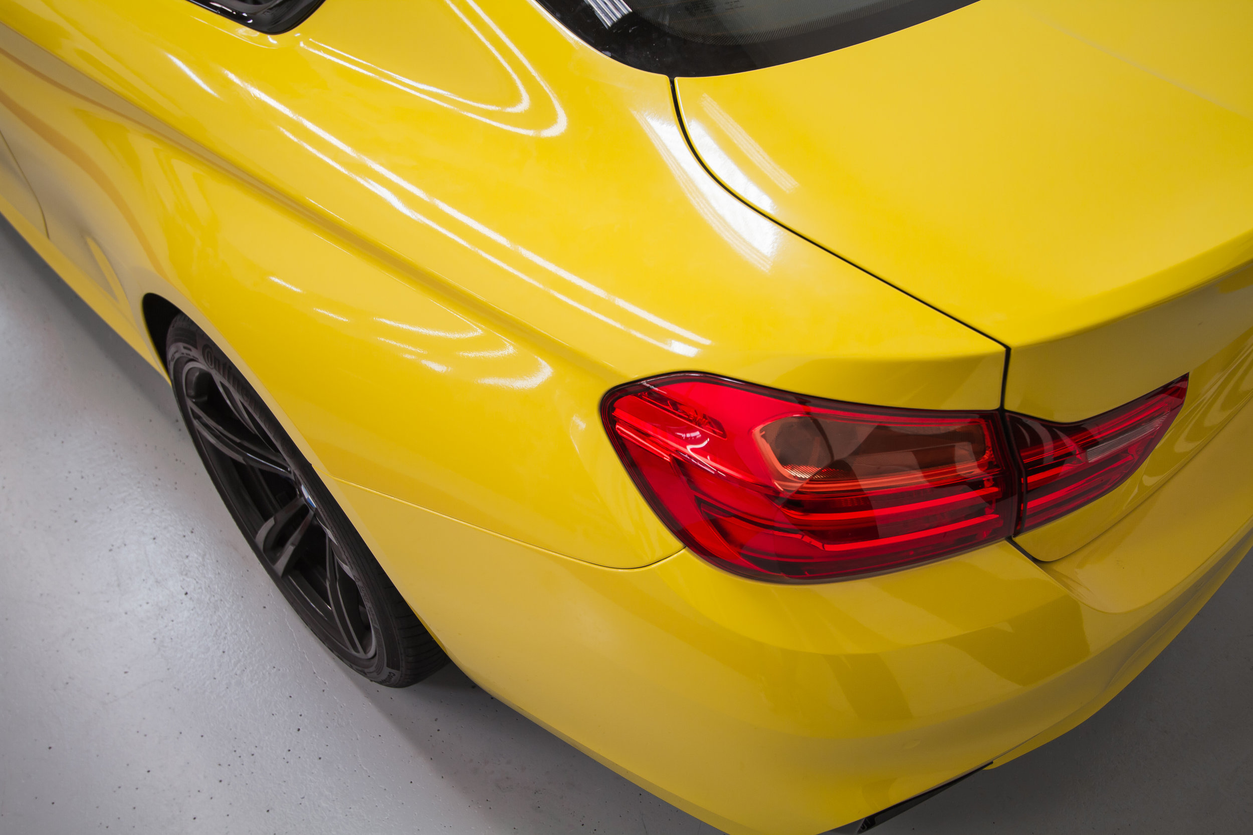 Yellow BMW M4 wrapped