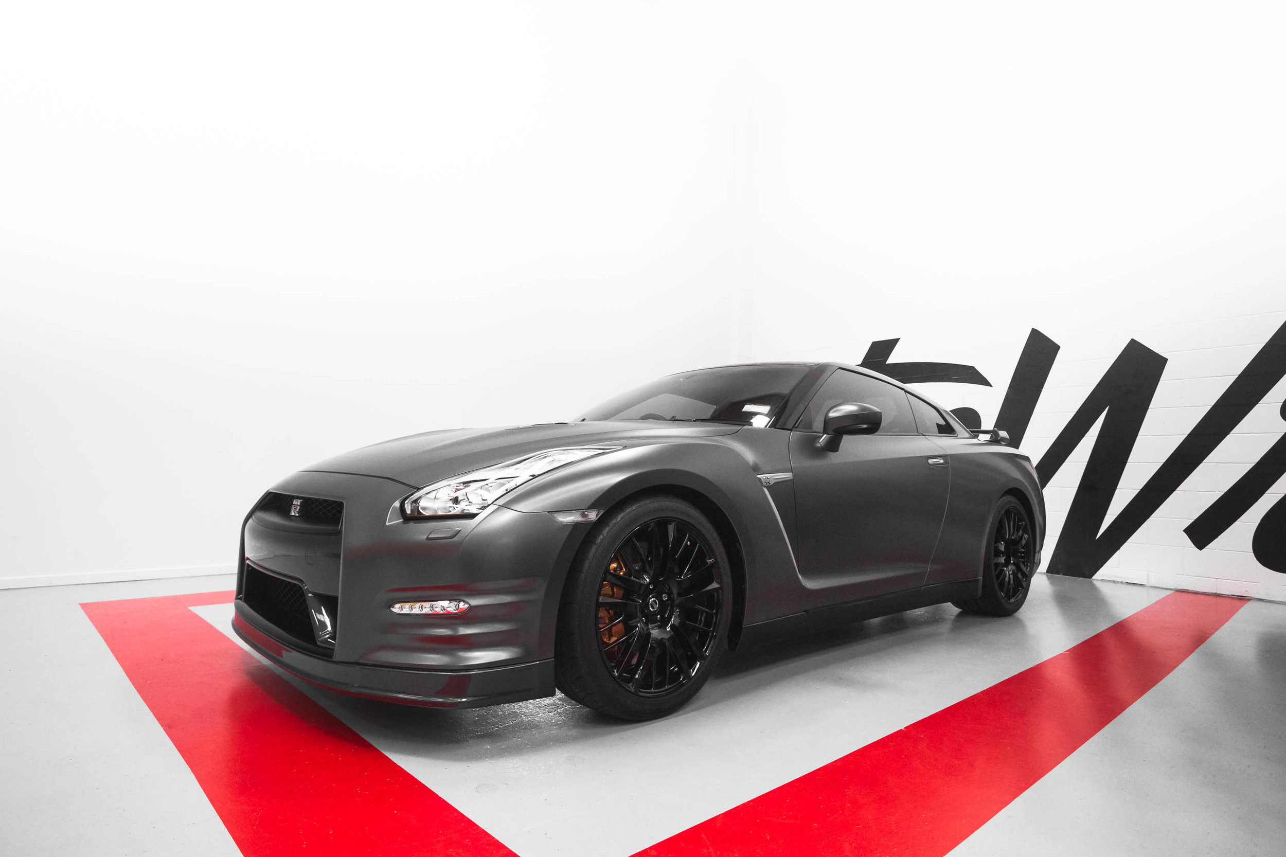 Wrapped Nissan skyline GTR r35