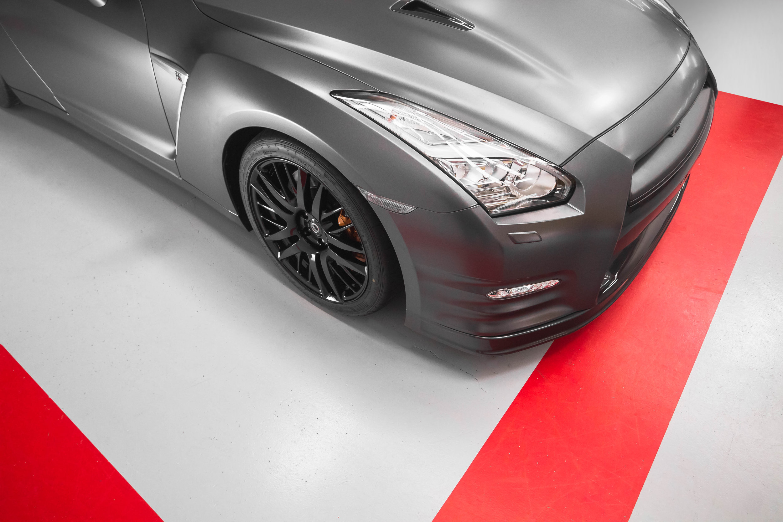 GTR r35 Vinyl Wrap 3M Satin Dark Grey