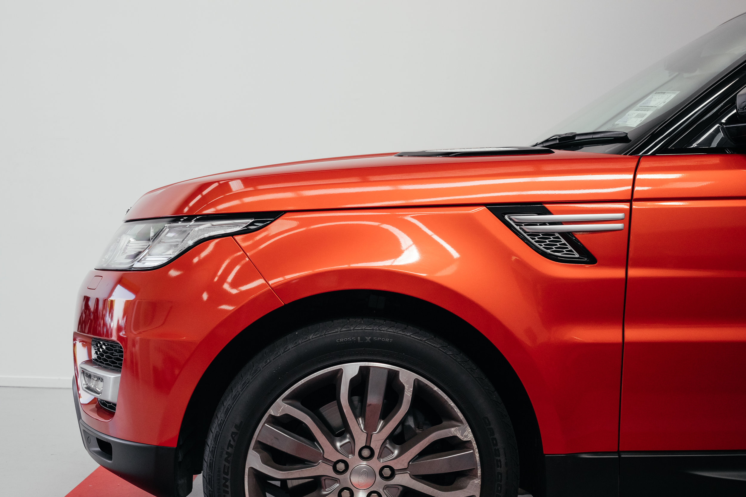 Range Rover Wrapped Orange