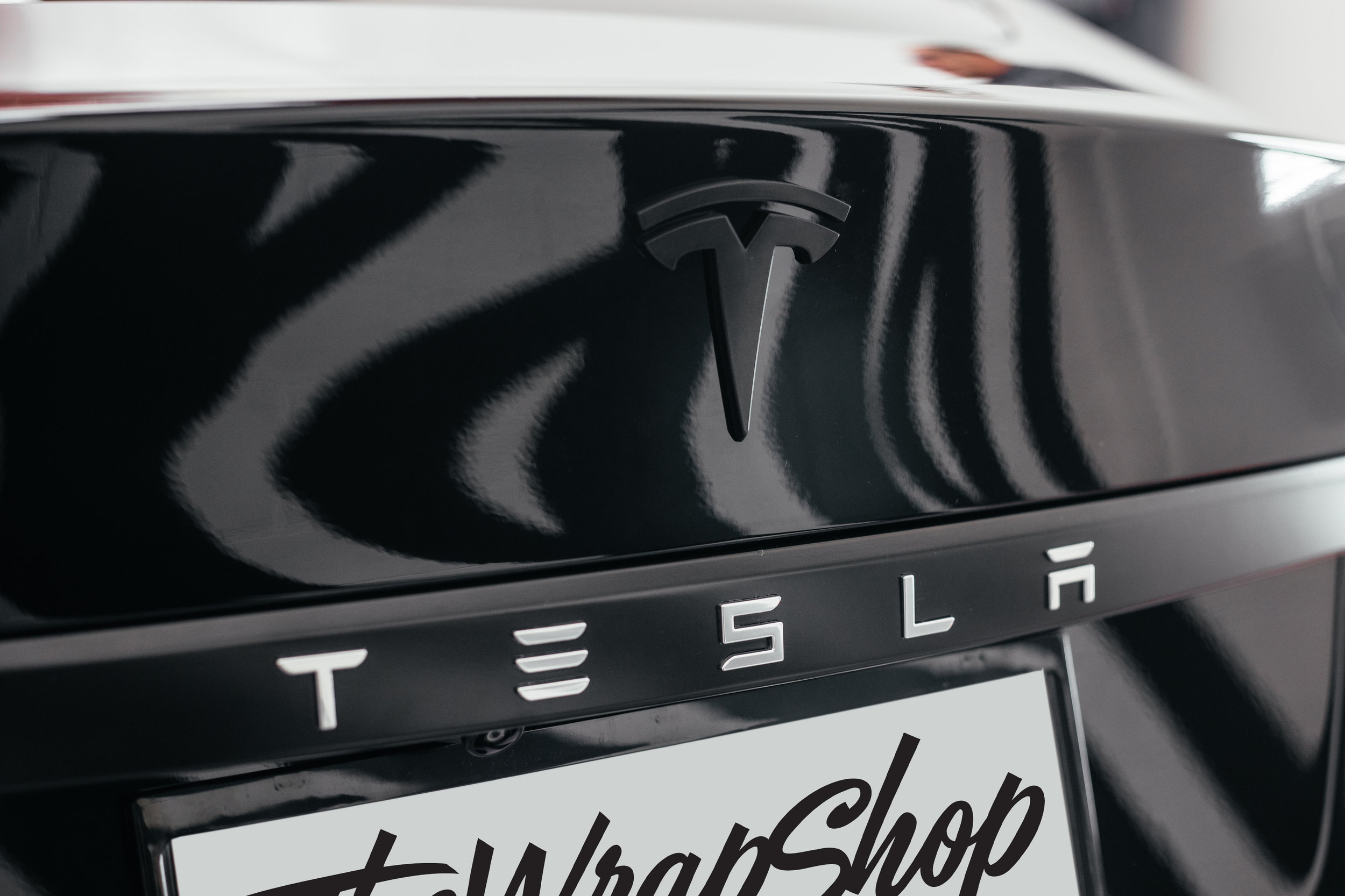 Tesla Rear Badge Custom Black