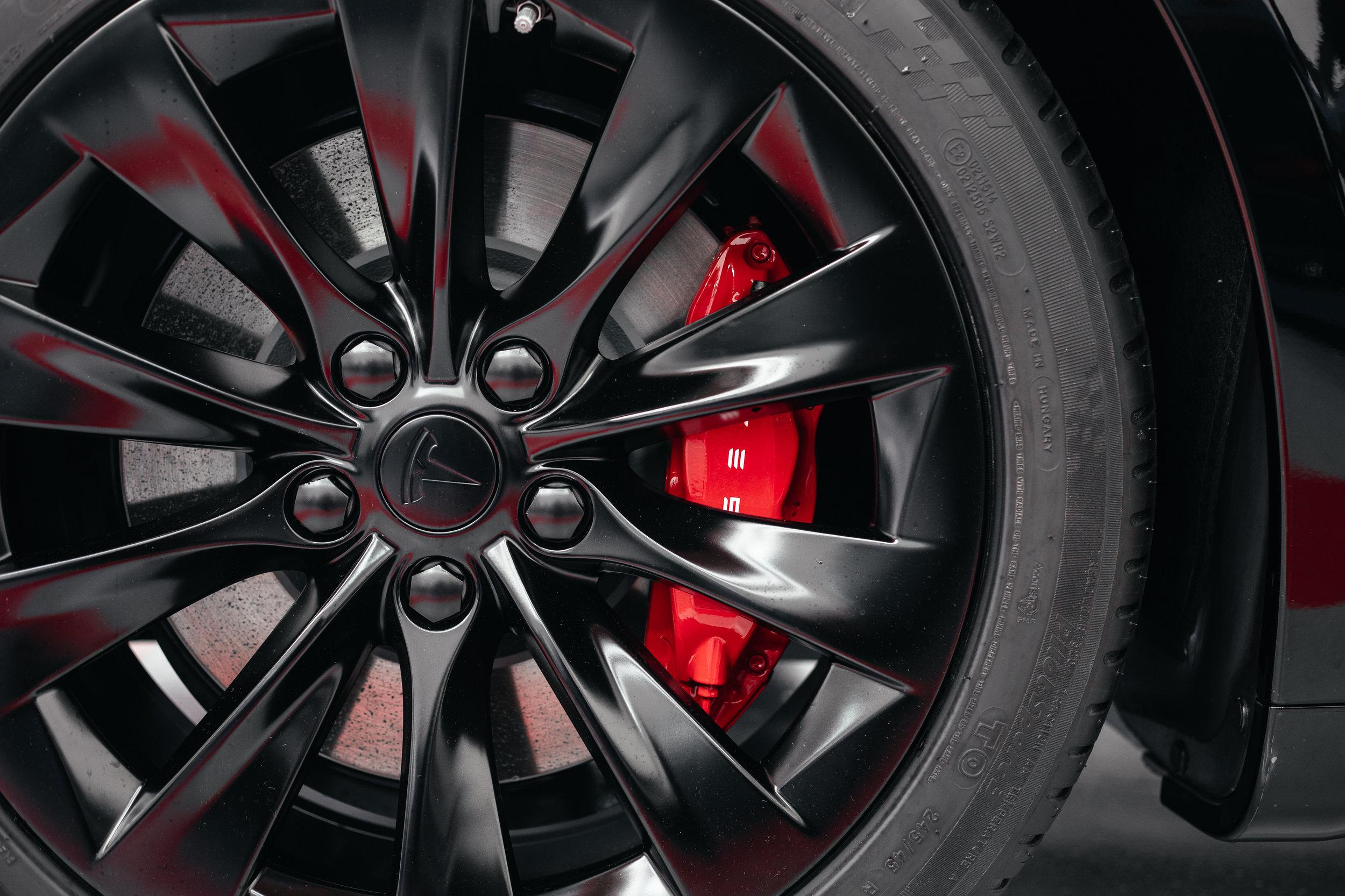 Wheel Painting Tesla