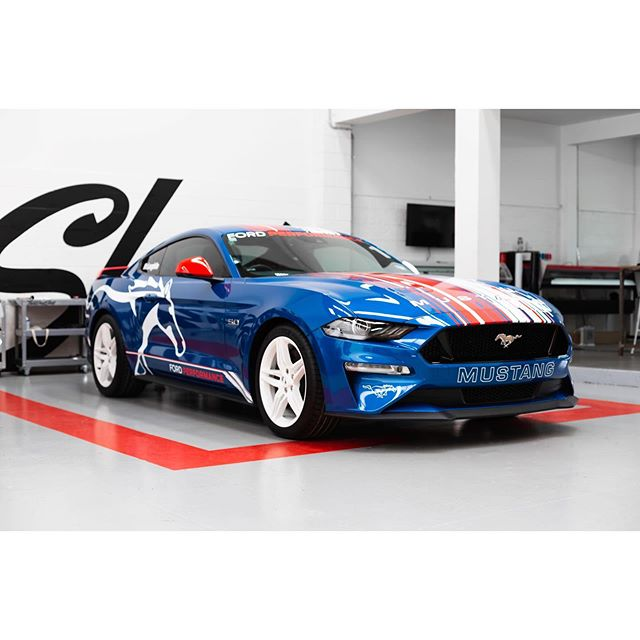 ford Performance Mustang livery 🏁  #thewrapshop #paintisdead #ford #fordmustang