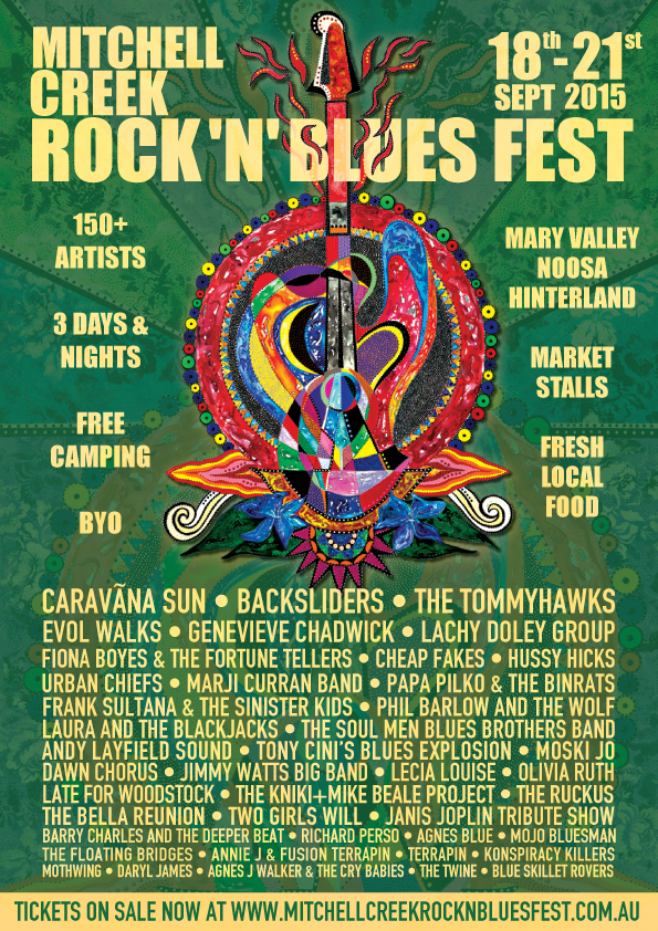 Mitchell Creek Rock N Blues Fest Poster