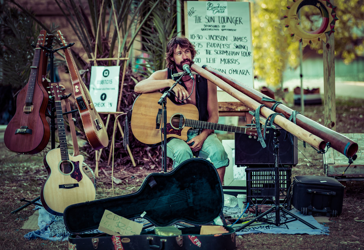 Tristan O'Meara at Buskers By The Creek 2015. Photo by Live on the Edge Photography