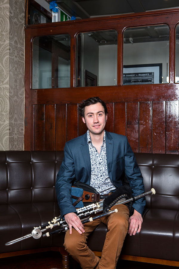 TOM DELANY Uilleann pipes, whistles  With an Irish father and French mother, Tom gained his musicality through osmosis, born and raised in a rich environment of Irish music. Inspired by the traveling style of piping, his rhythmic playing is powerful and daring.