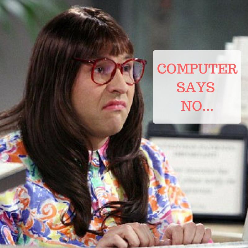 the powerup series computer says no meme