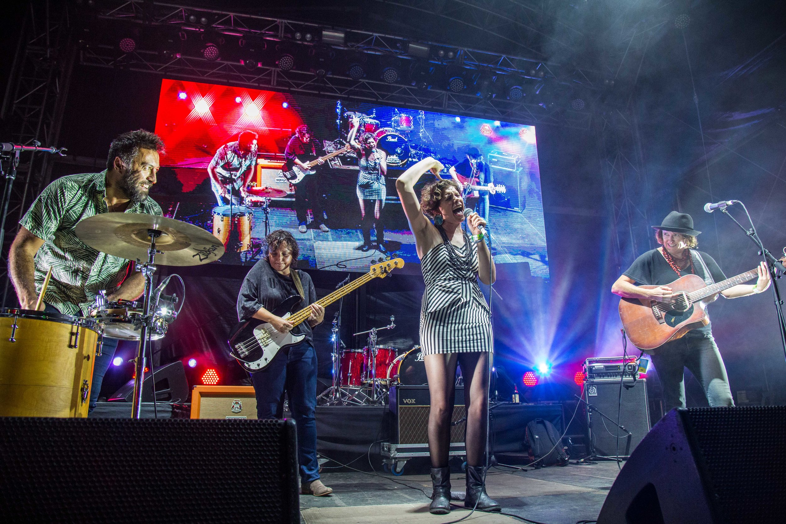 Album of the Year winners, Hussy Hicks perform live at the 2018 Gold Coast Music Awards. Pic: James Wills