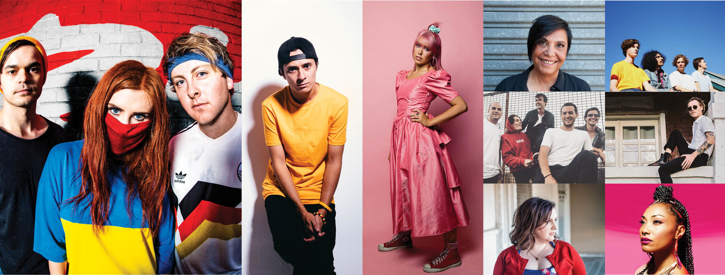 Joining the Australian Music Week lineup today (L-R): RedHook, DOBBY, Florian, Shellie Morris, Hibiscus Biscuit, Maverick, Bodie, Megan Cooper, Mirrah.