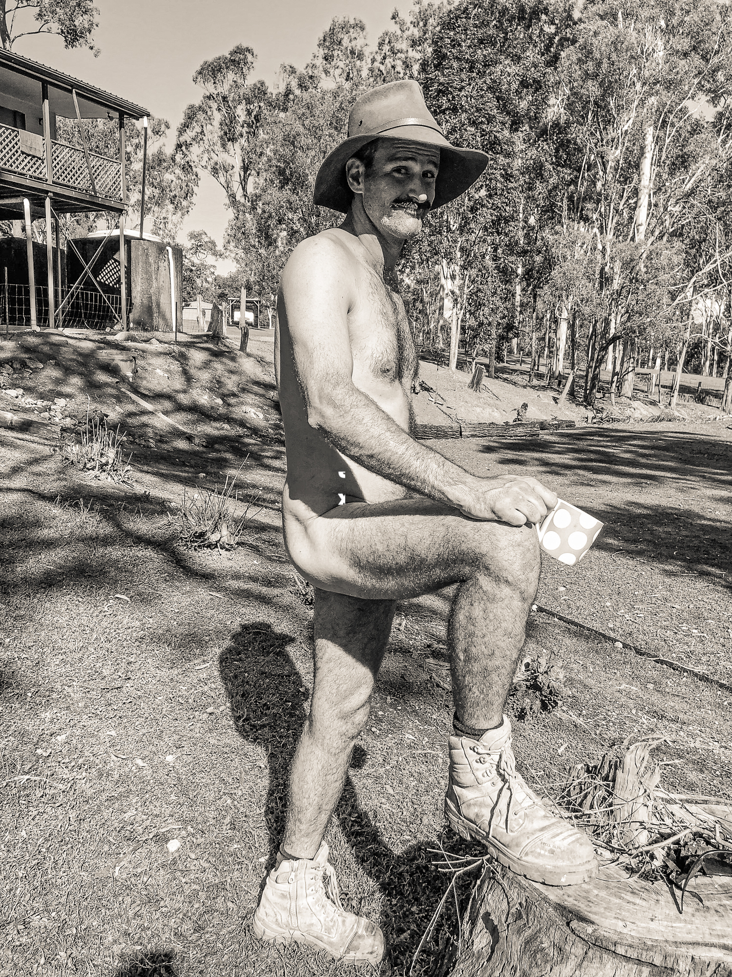 Married at First Sight's Gympie Farmer, Mick Gould gets naked for Muster.
