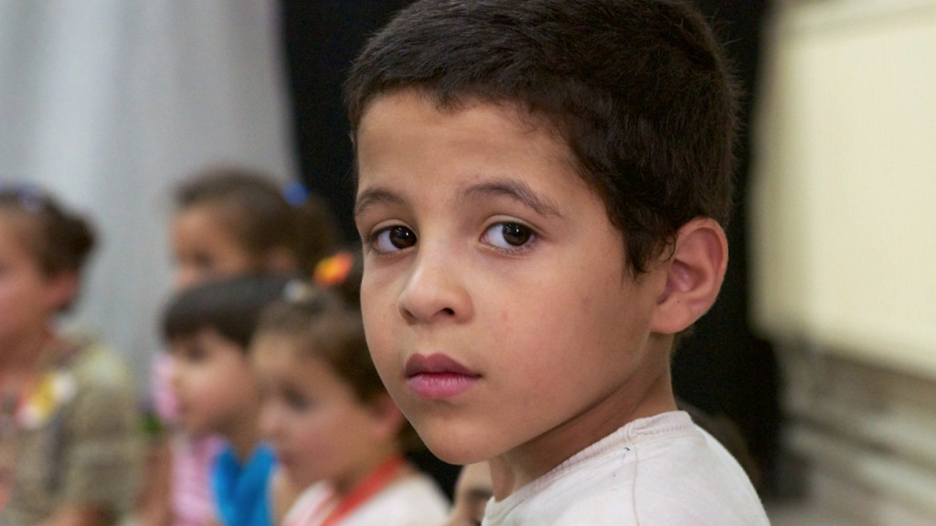 A child in Jordan's Za'atari Refugee Camp
