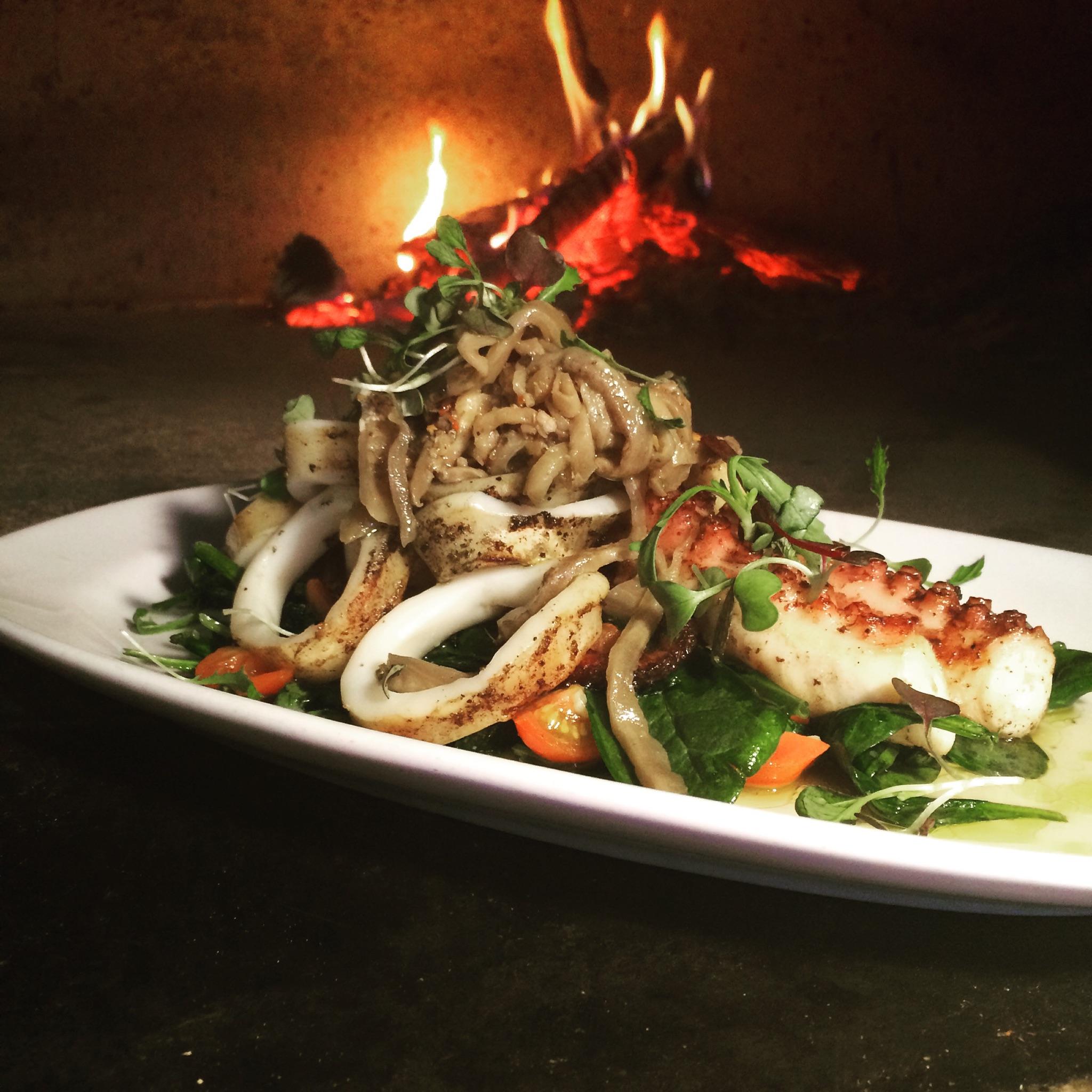 Wood Grilled Calamari & Octopus