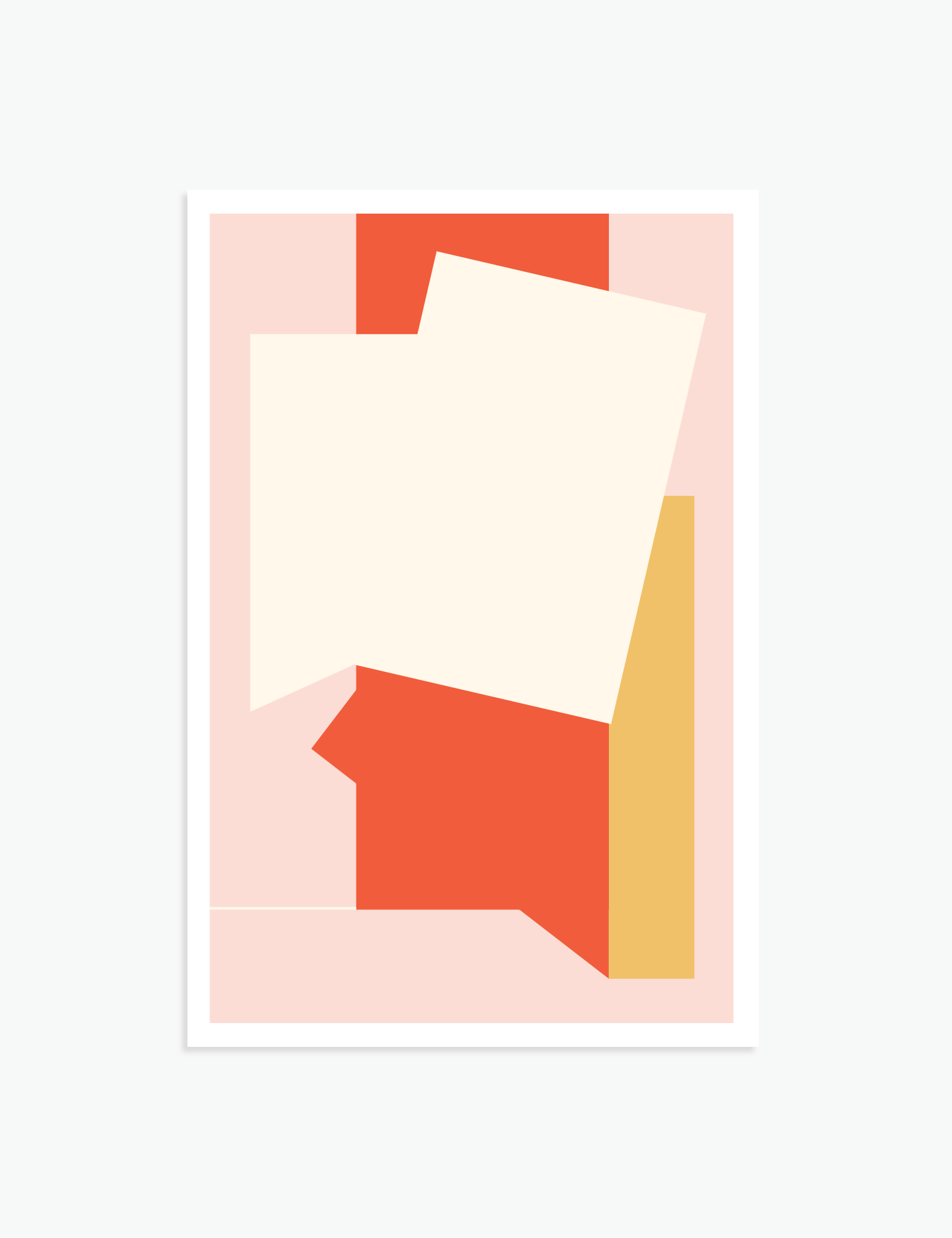 """Where It Ended   18"""" x 12"""" vector illustration, 2018"""