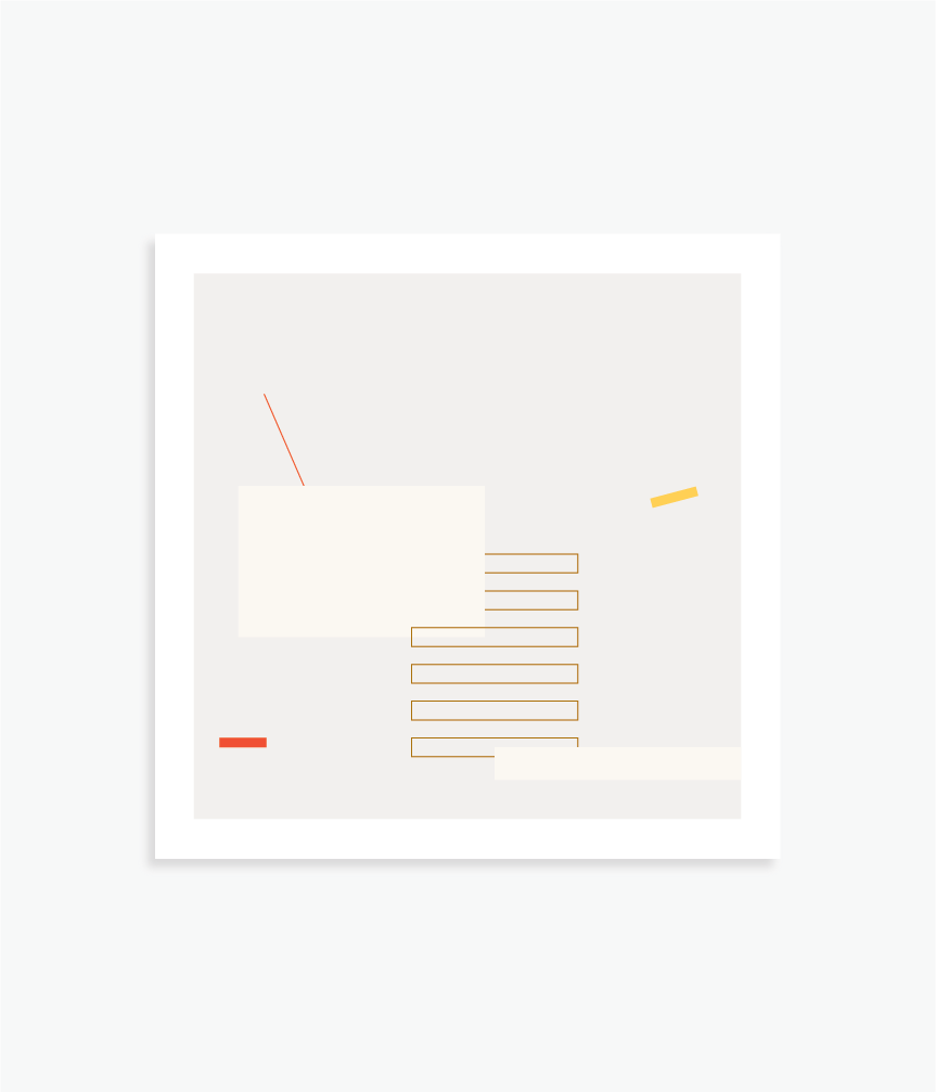 """Here And There   8"""" x 8"""" vector illustration, 2018"""