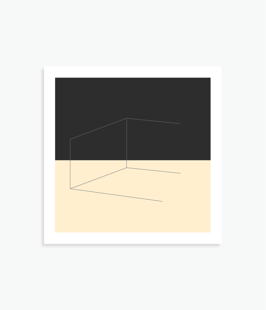 """Less Than Whole   8"""" x 8"""" vector illustration, 2017"""
