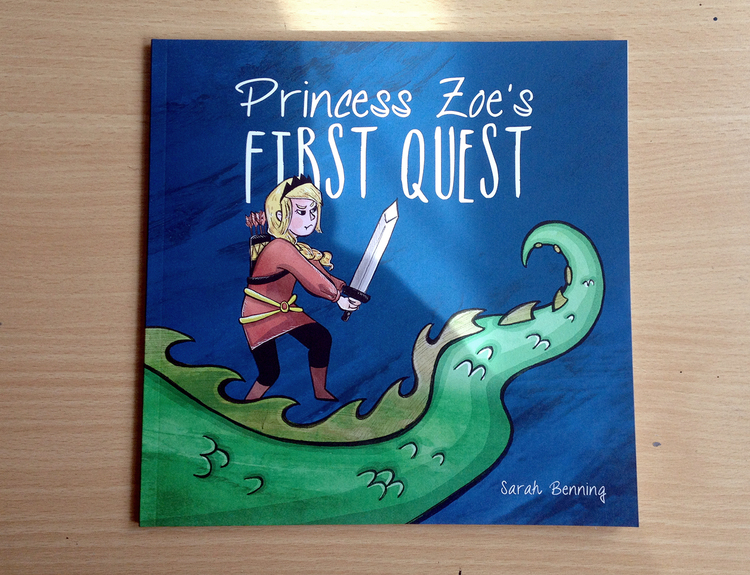 Children's book cover design & page layout design