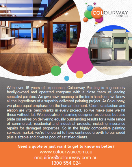 Quarter Page Advertisement for Colourway Painting for ABNS Magazine