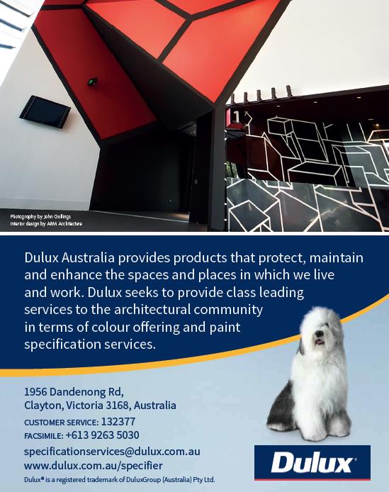 Quarter Page Advertisement for Dulux Australia for ABNS Magazine