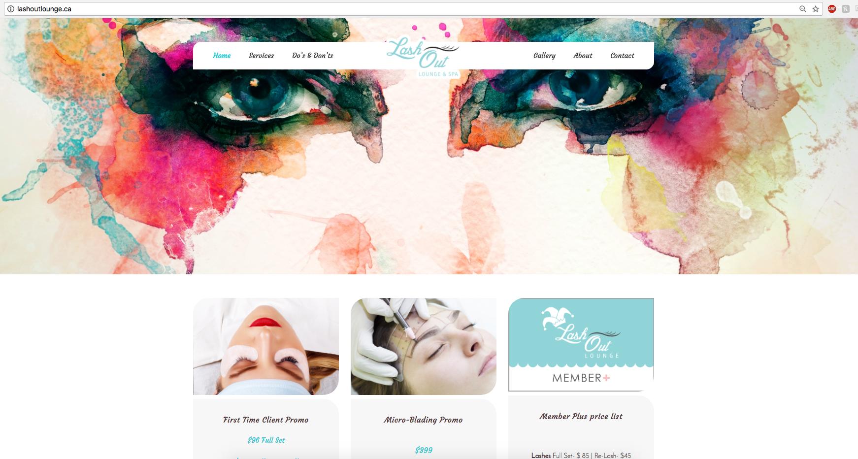 Lash Out Lounge & Spa Website