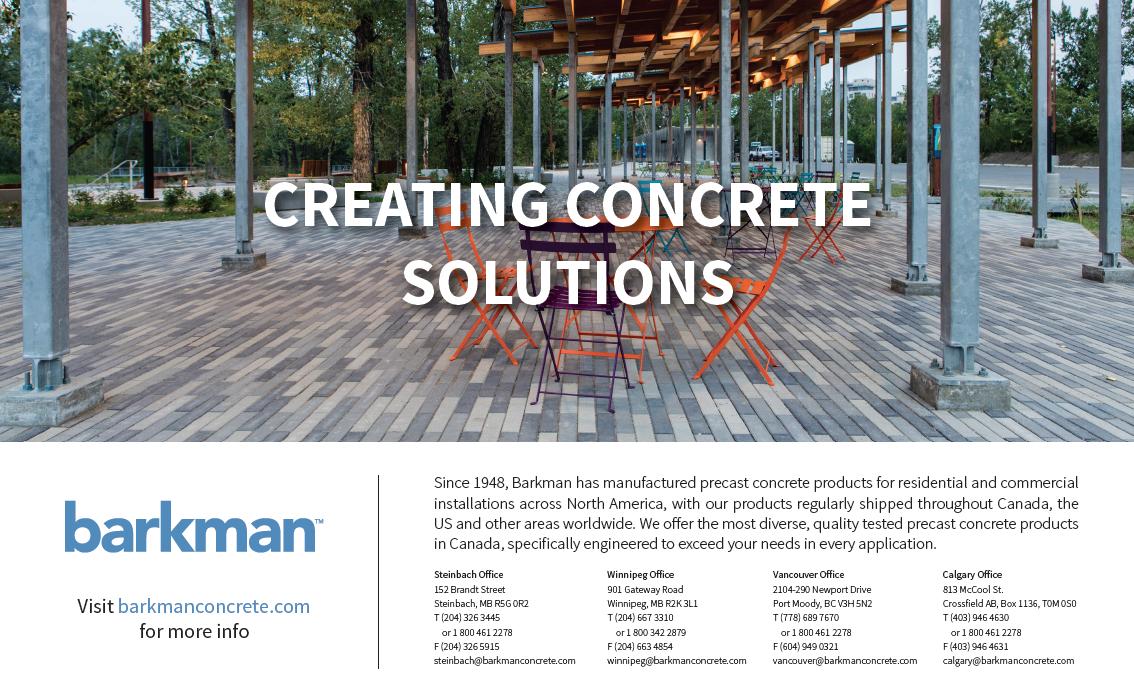 Half Page ad for Barkman Concrete for CBNM Magazine