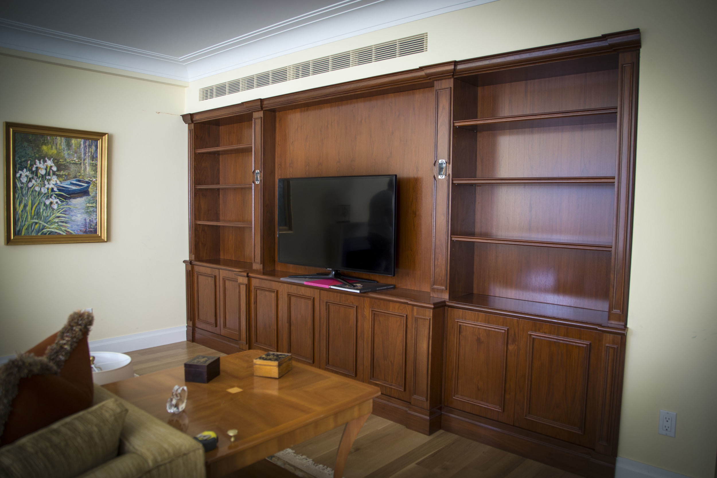 Custom Walnut Built-In.