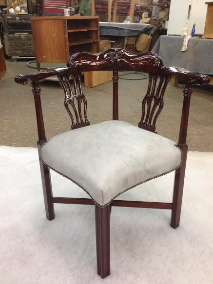 Mahogany Side Chair Restored and Upholstered with Horse Hair