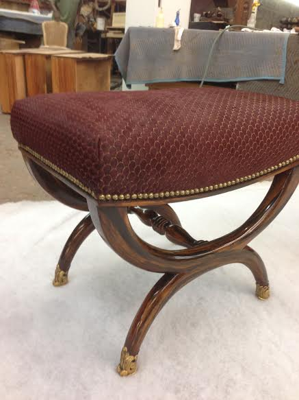 Ottoman - Restored and Reupholstered
